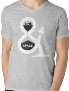 Time & Space Mens V-Neck T-Shirt
