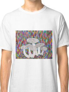 ordinary mushrooms in a psychedelic world  Classic T-Shirt