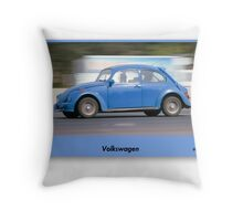 Volkswagen Rips past - drive-by shooting Throw Pillow