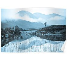 Rannoch Moor and cloudscape Poster