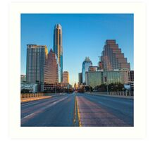 Austin sunrise on Congress Art Print