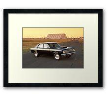 Black Ford XR Falcon Framed Print
