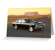 Black Ford XR Falcon Greeting Card