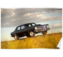 Black Ford XR Falcon Poster