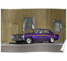 Purple Ford Falcon XY Poster
