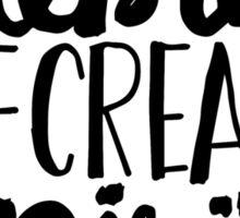 Celebrate the Creative Spirit - Black Design Sticker