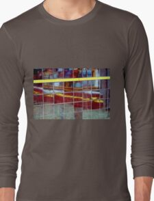 Two Yellow Lines Long Sleeve T-Shirt
