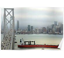 San Francisco Bay Bridge (Saga Boat) Poster