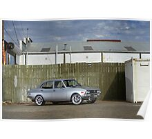 Silver Mazda RX2 Poster
