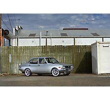 Silver Mazda RX2 Photographic Print