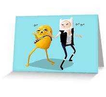 Finn-Solo and Jakey Greeting Card