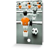 Table Football 02B - Defender   Orange Greeting Card