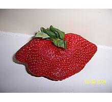 Mutant Strawberry Photographic Print