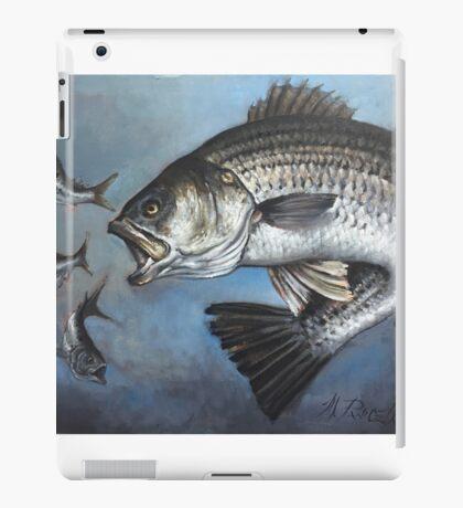 Striped Bass Chasing Bunker iPad Case/Skin