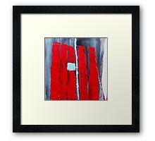 Blue Square Framed Print
