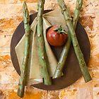 Asparagus and tomato by Thad Zajdowicz