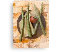 Asparagus and tomato Metal Print