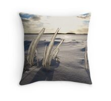 Winter Grass Throw Pillow