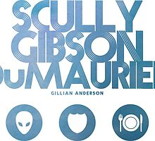 Scully, Gibson, Du Maurier by subject13fringe
