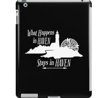What Happens In Haven Lighthouse White Logo iPad Case/Skin