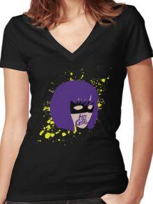 Hit-Girl Women's Fitted V-Neck T-Shirt