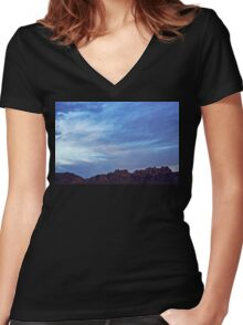 Organ Mountains Women's Fitted V-Neck T-Shirt