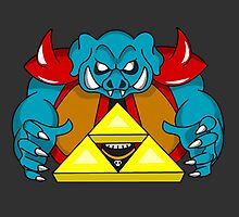 """Ganon's Triforce"" by phantomsun"