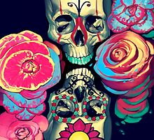 Skulls and Flowers by Brad Collins