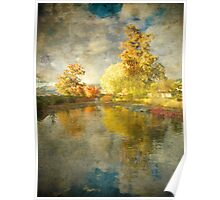 Autumn in the Pond Poster