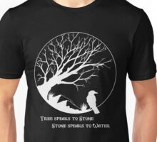Tree Speaks to Stone.... reversed Unisex T-Shirt