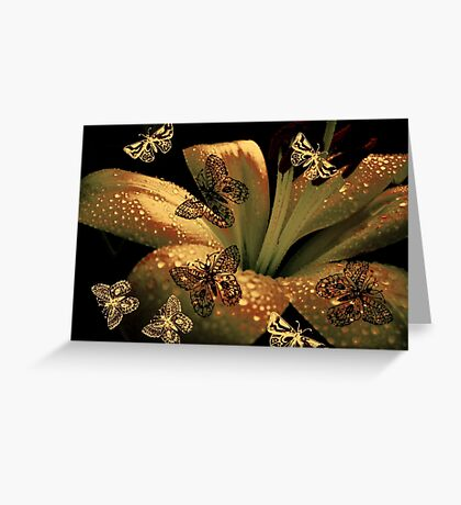Lily and Butterflies Greeting Card