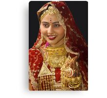 The Indian Bride Canvas Print