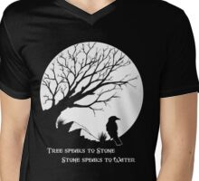 Tree Speaks to Stone.... Mens V-Neck T-Shirt
