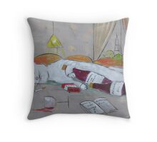 Frenchy drunk in Paris Throw Pillow