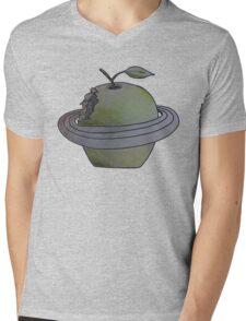 Apple Planet Mens V-Neck T-Shirt