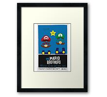 THE MARIO BROTHERS Framed Print