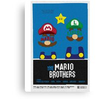THE MARIO BROTHERS Canvas Print