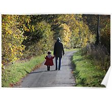 autumn walk Poster