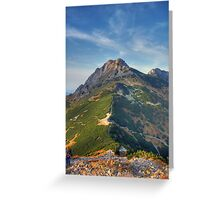 Giewont - Tatry, Poland. Greeting Card