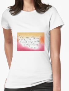 Mark Twain quote calligraphy art  Womens Fitted T-Shirt