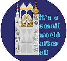 """""""it's a small world"""" Sticker by BootlegBird"""