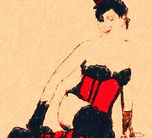 Red Corset by David Rozansky