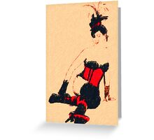 Red Corset Greeting Card