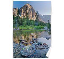 Taylor Lake Evening Reflection Poster