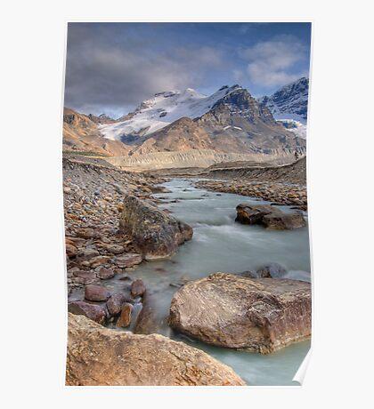 Mount Athabasca, Alberta, Canada. Poster