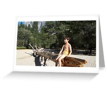 Rest on a trunk Greeting Card