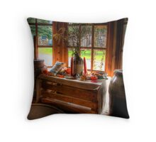 WINDOW IN OLD BEDFORD VILLAGE Throw Pillow