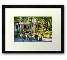 Vacation resort in the Maldives, Eden on Earth Framed Print