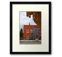 Funny looking red house Framed Print