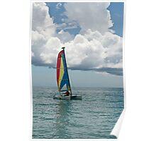 Jamaica series - sailing the Jamaican sea  Poster
